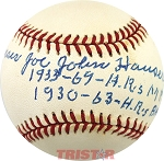 Joe Hauser Autographed Official American League Baseball Inscribed with HR Stats