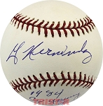 Willie Hernandez Autographed Baseball Inscribed 1984 Cy Young & MVP