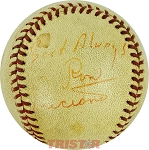 Ron Luciano Autographed Vintage Baseball