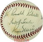 Roger Maris Autographed Official Wilson Babe Ruth League Baseball Inscribed To Ronald Roberts Lots of Luck