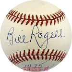 Billy Rogell Autographed Official AL Baseball Inscribed 1935 Detroit Tigers