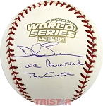 Dale Sveum Autographed 2004 World Series Baseball Inscribed Reversed The Curse