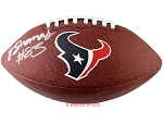 Jordan Thomas Autographed Houston Texans Logo Football