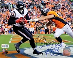 Jordan Thomas Autographed Houston Texans TD vs Broncos 8x10 Photo
