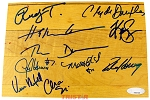 Houston Rockets 1994-1995 Champions Team Autographed Authentic Summit Floor Piece - Olajuwon, Drexler & More