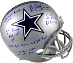 Amari Cooper Autographed Dallas Cowboys Full Size Helmet with 5 Inscriptions