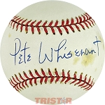 Pete Whisenant Autographed Official National League Baseball