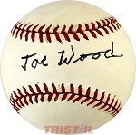 Smoky Joe Wood Autographed Vintage Rawlings Official League Baseball