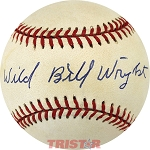 Wild Bill Wright Autographed Official American League Baseball