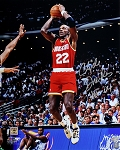 Clyde Drexler Autographed Houston Rockets 16x20 Photo Inscribed HOF 04
