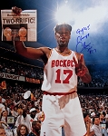 Mario Elie Autographed Houston Rockets 16x20 Photo Inscribed 94-95 Champs