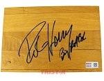 Robert Horry Autographed Authentic Summit Floor Piece Inscribed Big Shot Bob