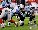 Kevin Mawae Autographed Tennessee Titans 8x10 Photo Inscribed HOF 2019