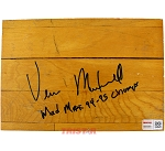 Vernon Maxwell Autographed Authentic Summit Floor Piece Inscribed Mad Max 94-95 Champs