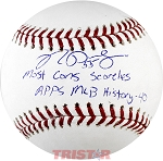 Ryan Pressly Autographed Official Baseball Inscribed with MLB Record