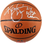 Kenny Smith Autographed Spalding I/O NBA Basketball Inscribed 2x NBA Champ
