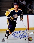 Marcel Dionne Autographed LA Kings 8x10 Photo Inscribed HOF 92