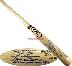 Josh Hamilton Autographed Rawlings Name Model Bat with 6 Inscriptions