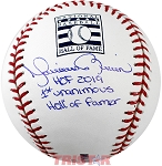 Mariano Rivera Autographed Hall of Fame Baseball Inscribed HOF 2019, 1st Unanimous HOF