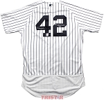 Mariano Rivera Autographed New York Yankees Jersey Inscribed 1st Unanimous HOF