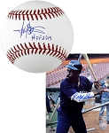 Harold Baines Autographed Baseball Inscribed HOF 19 + Ralph Garr Signed White Sox 8x10 Photo