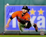 Jake Marisnick Autographed Houston Astros Diving Catch 8x10 Photo