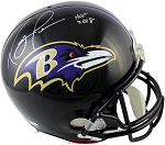 Ray Lewis Autographed Baltimore Ravens Full Size Replica Helmet Inscribed HOF 2018