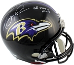 Ray Lewis Autographed Baltimore Ravens Full Size Replica Helmet Inscribed SB XXXV MVP