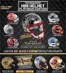 TRISTAR Hidden Treasures Autographed Mini Helmet - 2019 Platinum Edition (1 Box)