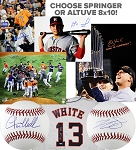 Springer or Altuve & 2017 WS Champs Autographed Houston Astros Combo