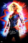 Brie Larson Autographed 'Captain Marvel' 20x30 Photo Inscribed Captain Marvel