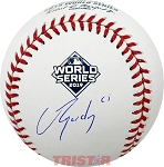 Jose Urquidy Autographed 2019 World Series Baseball