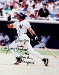 Jesse Barfield Autographed New York Yankees 8x10 Photo Inscribed 1986 Home Run Champ