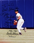 Jesse Barfield Autographed New York Yankees 8x10 Photo Inscribed HR Champ & GG Winner