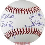 Steve Garvey, Bill Russell, Davey Lopes & Ron Cey Autographed Baseball