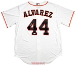 Yordan Alvarez Autographed Houston Astros White Jersey Inscribed 19 AL ROY