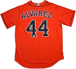 Yordan Alvarez Autographed Houston Astros Orange Jersey Inscribed 19 AL ROY