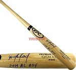 Yordan Alvarez Autographed Name Model Blonde Bat Inscribed 2019 AL ROY