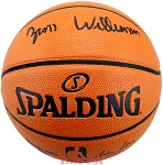 Zion Williamson Autographed Spalding I/O NBA Basketball