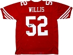 Patrick Willis Autographed San Francisco 49ers Red Custom Jersey