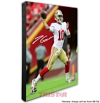 Jimmy Garoppolo Autographed San Francisco 49ers Super Bowl LIV 20x24 Stretched Canvas