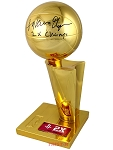 Hakeem Olajuwon Autographed Rockets NBA Champions Trophy Inscribed 2x Champs