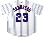 Ryne Sandberg Autographed Chicago Cubs Jersey Inscribed NL MVP, HOF, GG, AS