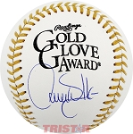 Larry Walker Autographed Gold Glove Baseball