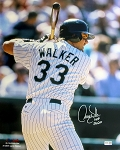 Larry Walker Autographed Colorado Rockies 16x20 Photo Inscribed HOF 20