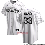 Larry Walker Autographed Colorado Rockies Replica Jersey