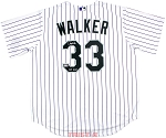 Larry Walker Autographed Colorado Rockies Replica Jersey Inscribed HOF 20