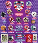 TRISTAR Hidden Treasures Autographed Mini Helmet - Purple Box (1 Box)