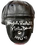 Angelo Bertelli Autographed Leather Mini Helmet Inscribed Notre Dame HTW 43