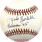 Angelo Bertelli Autographed National League Baseball Inscribed